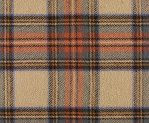 coperta in pura lana vergine steward tartan cammello - 140x180 cm
