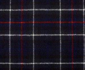 coperta in pura lana vergine mckenzie tartan blu - 140x180 cm