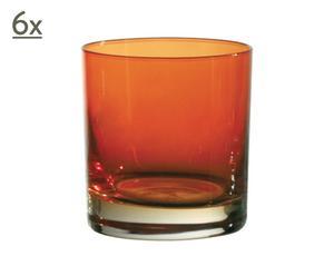 Set di 6 bicchieri gobelets in cristallo Moonlight arancio