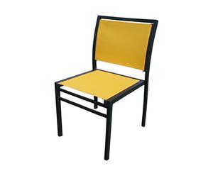 sedia da giardino in alluminio e textilene amalfi giallo - 42x40x83 cm