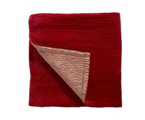 Copriletto singolo in velluto e cotone Elegance rosso - 160x160 cm