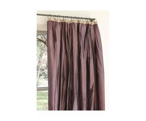 tenda in taffetas con occhielli viola - 280x130 cm
