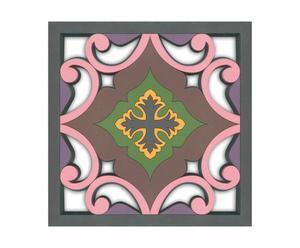 sottopiatto in pvc grigio e malva Sejjadeh Prune - 18x18x1 cm