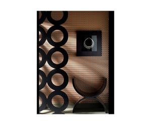set di 3 rotoli di carta da parati Hicks arancione e nero - 52x1000 cm