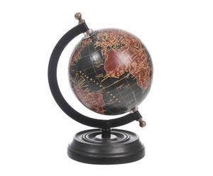 mappamondo da tavolo in mango e metallo globe - 13x20 cm
