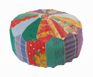 pouf in cotone Enriqueta - d 61/H 31 cm
