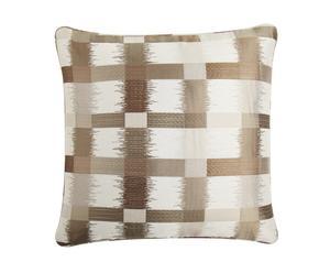 Set di 2 cuscini con federa in fibra mista ZIGGY bianco - 50x50 cm