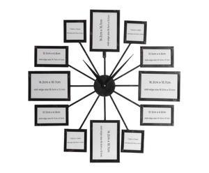 Orologio da parete con portafoto in ferro Multiple - 68x68 cm