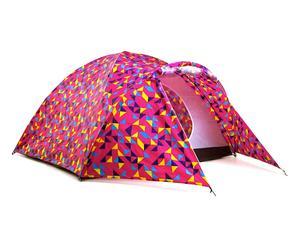 Tenda con accumulatore di energia solare in poliestere - rosa