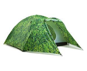 Tenda con accumulatore di energia solare in poliestere - verde
