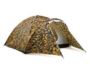 Tenda con accumulatore di energia solare in poliestere - marrone