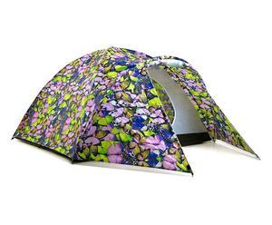 Tenda con accumulatore di energia solare in poliestere - viola e rosa