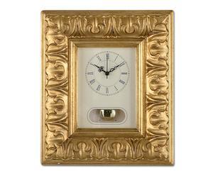 Orologio da parete in legno Barocco - 29x34 cm