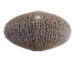 Paralume in rattan e cotone Rice Black - 80x40x80 cm