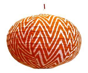 Paralume in rattan e cotone Zig Zag Orange - 60x60x60 cm