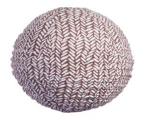 Paralume in rattan e cotone Rice Brown - 50x50x50 cm