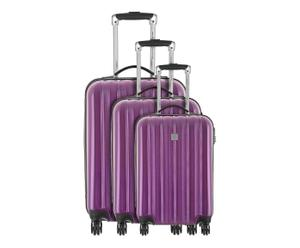 SET DI 3 TROLLEY IN ABS wagram viola - 50/60/70 CM