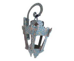 Lanterna decorativa in cartone con sostegno Lantern Blue - 31x50x38 cm