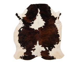 Pelle di mucca in  bianco/marrone - 200x1x180 cm