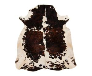Pelle di mucca in  bianco/marrone - 180x1x170 cm