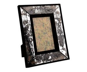 cornice portafoto in vetro nero ivy - 19x24 cm