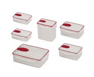 Set di 6 contenitori salvafreschezza ermetici PLUG