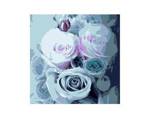 Pannello decorativo ROSE blu - 40X40 cm