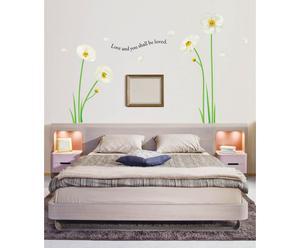 Sticker da parete White Poppies - H 100 cm