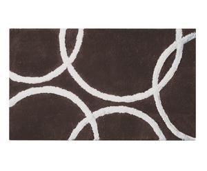 Tappeto in acrilico Kyra - Grigio e bianco 60X100 cm