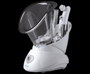 Set bellezza viso (1 sauna facciale con accessori incorporati + 1 piega ciglia + 1 rifinitore peli)