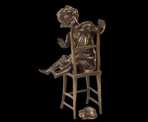 Scultura in bronzo patinato BAMBINA - 22X12X11 cm