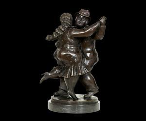 Scultura in bronzo patinato BALLERINI - 37X25X19 cm