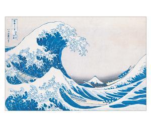 Stampa The Great Wave of Kanagawa - Katsushika Hokusai - 90X60