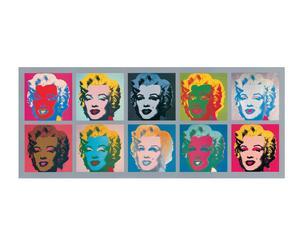 Stampa su MDF Ten Marilyns, 1967 - 134X56 cm