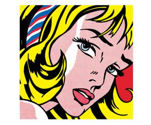 Stampa su MDF Girl with Hair Ribbon, 1965 - 60X61 cm