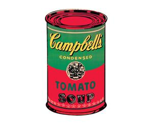 Stampa su MDF Campbell Soup can 1965 - 60x90 cm