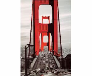Stampa su pannello mdf Golden Gate Bridge - 60x90 cm
