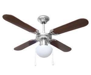 Ventilatore a soffitto HAVA - marrone e bianco