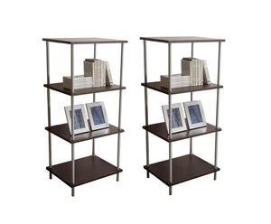 Set di 2 librerie componibili a 4 piani Book - 55X128X45 cm