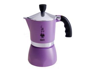Caffettiera moka da 3 tazze Fiammetta - viola