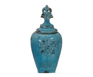 set di potiche in ceramica turquoise