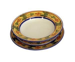 Set di piatti in ceramica siciliana