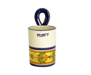 Barattolo portaposate in ceramica siciliana