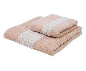 set asciugamani Roseline cipria (viso+ospite)