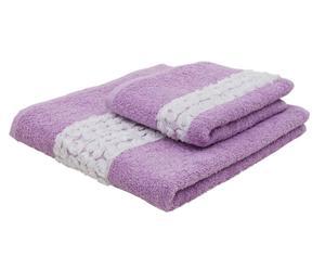 set asciugamani Roseline glicine (viso+ospite)
