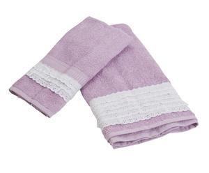 Set asciugamani Sangallo glicine (viso+ospite)