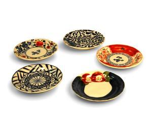Set di 10 piatti per aperitivo Saiegawari - con scatola in legno