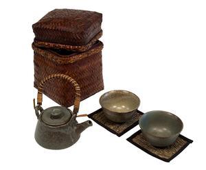 Set di 1 teiera + 2 tazze da the Zen - con cestino
