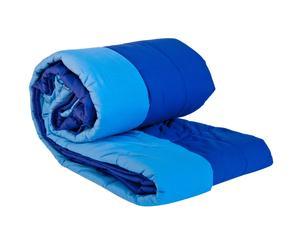 Trapuntina double-face in tessuto misto - Blu e azzurro