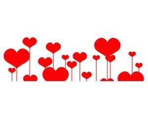 Wallsticker in vinile San Valentino